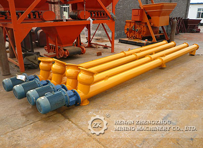 Tubular screw conveyor for cement,lime