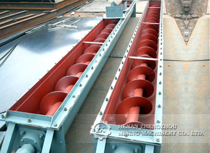 The models of screw conveyor blades