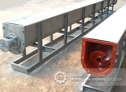 The application of U-type screw conveyor